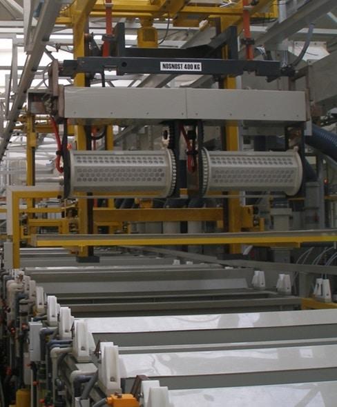 Aalberts surface technologies Brzotin-Bak 2 ZnNi drum line Brzotin