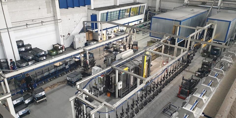 Aalberts surface technologies Zwickau 2 Durchlaufanlage
