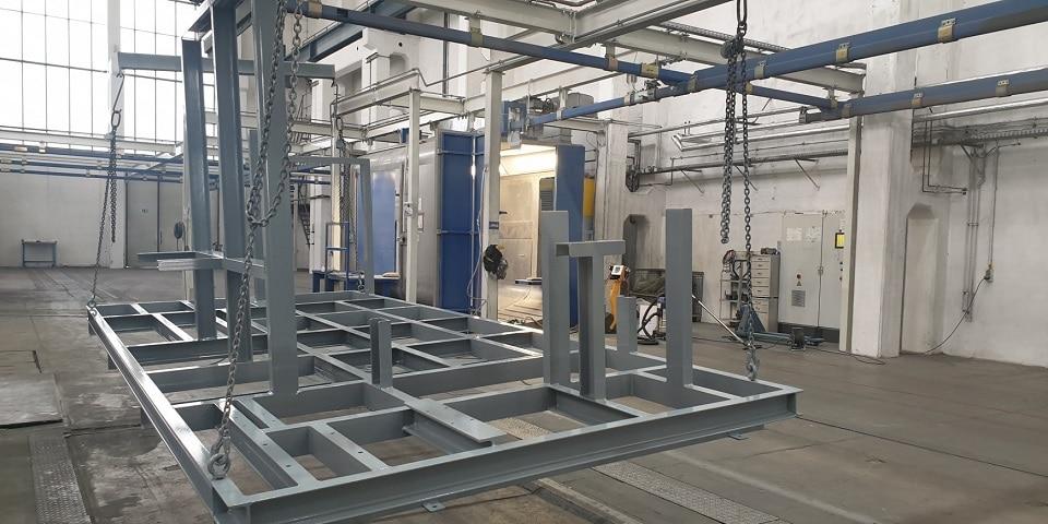 Aalberts surface technologies Zwickau 3 Großteil-Pulveranlage